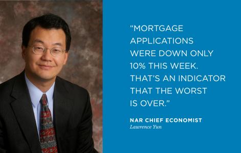 The worst is over, says NAR Chief Economist Lawrence Yun