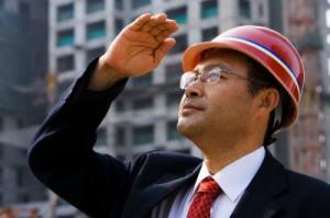 Architect on job site
