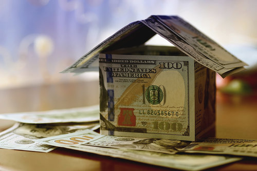 Real Estate dollar house background